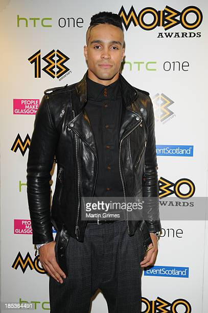 Ashley Banjo of Diversity poses at the 18th anniversary MOBO Awards at The Hydro on October 19 2013 in Glasgow Scotland