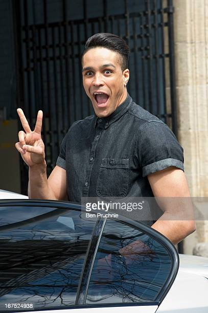 Ashley Banjo sighted departing ITV Studios on April 26 2013 in London England