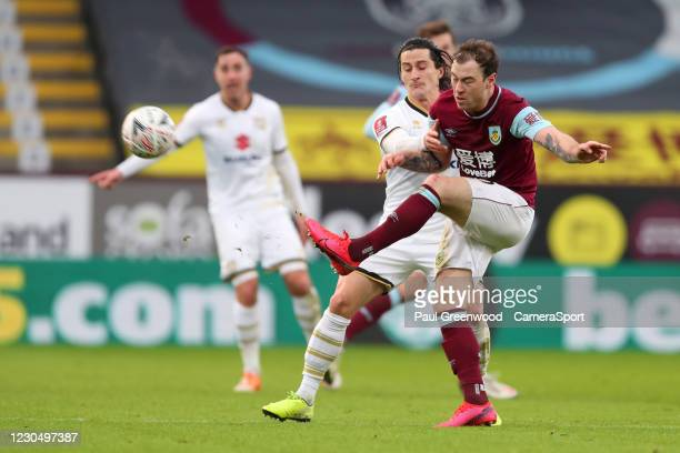 Ashley Barnes of Burnley during the FA Cup Third Round match between Burnley and Milton Keynes Dons at Turf Moor on January 9, 2021 in Burnley,...