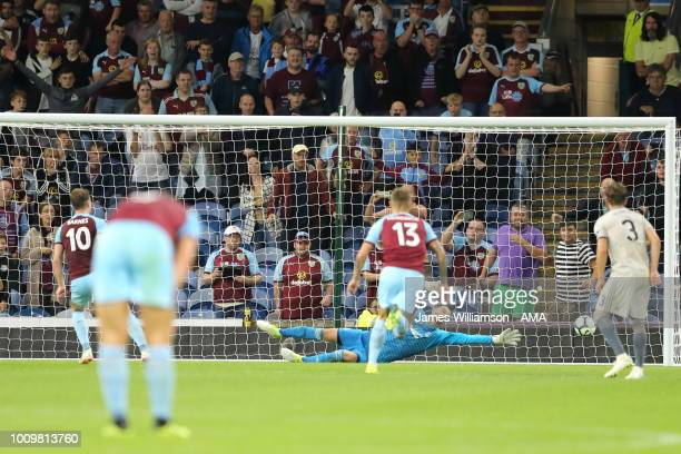 Ashley Barnes of Burnley scores a goal to make it 31 and 42 on Aggregate during the UEFA Europa League Second Qualifying Round 2nd Leg match between...