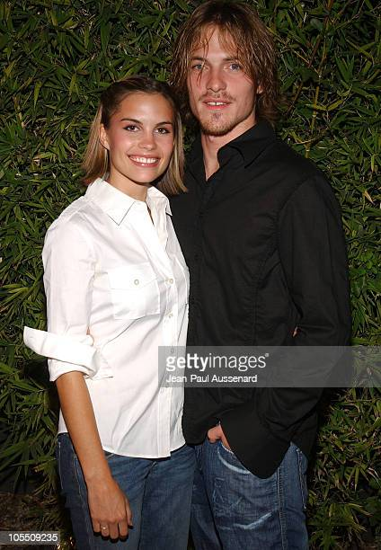 Ashley Bashioum and John Sroka during SOAPnet Fall 2004 Launch Party at Falcon in Hollywood California United States