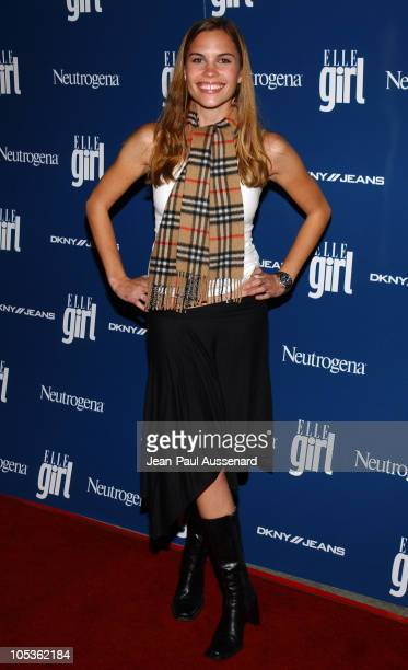 Ashley Bashioum during ELLEgirl Celebrates the Holidays with Cover Girl Mischa Barton at Orange County Museum of Art in Newport Beach California...