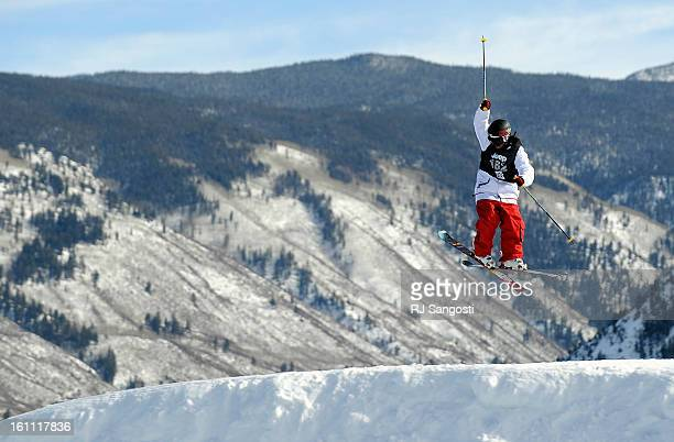 Ashley Battersby flies high Thursday January 27 during Skiing Slopestyle Women Finals at Winter XGames in Aspen RJ Sangosti The Denver Post