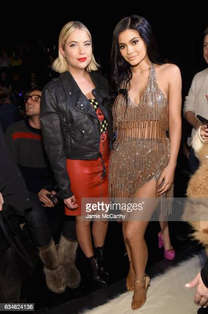 Ashley Benson and Kylie Jenner attend the Jeremy Scott collection Front Row during New York Fashion Week The Shows at Gallery 1 Skylight Clarkson Sq...