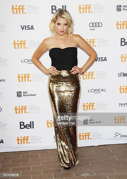 Ashley Benson arrives at Spring Breakers premiere during the 2012 Toronto International Film Festival held at Ryerson Theatre on September 7 2012 in...