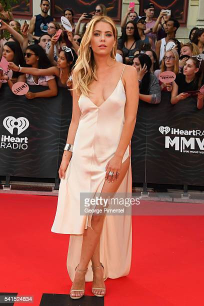 Ashley Benson arrives at the 2016 iHeartRADIO MuchMusic Video Awards at MuchMusic HQ on June 19th 2016 in Toronto Canada