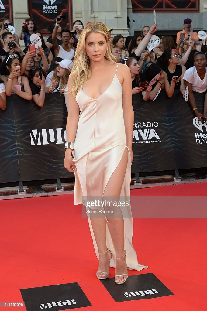 Ashley Benson arrives at the 2016 iHeartRADIO MuchMusic Video Awards at MuchMusic HQ on June 19, 2016 in Toronto, Canada.