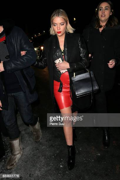 Ashley Benson arrives at the Jeremy Scott collection during New York Fashion Week on February 10 2017 in New York City