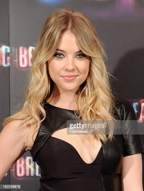Ashley Benson attends a photocall for Spring Breakers at the Villamagna Hotel on February 21 2013 in Madrid Spain