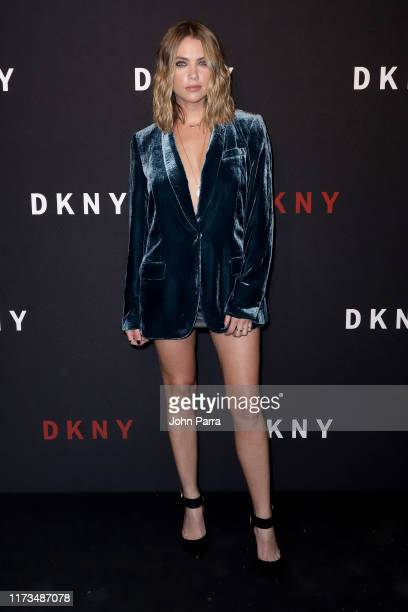 Ashley Benson attends as DKNY turns 30 with special live performances by Halsey and The Martinez Brothers at St. Ann's Warehouse on September 09,...