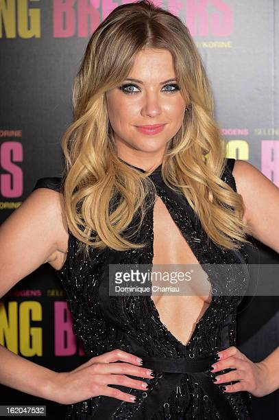 Ashley Benson attends 'Spring Breakers' Paris Premiere at Le Grand Rex on February 18 2013 in Paris France