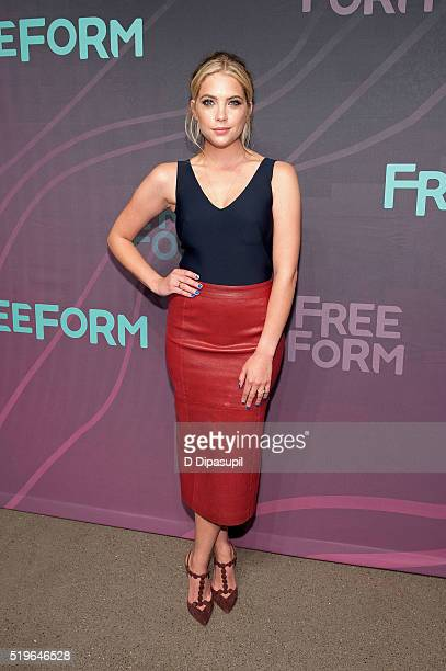 Ashley Benson attends the 2016 ABC Freeform Upfront at Spring Studios on April 7 2016 in New York City
