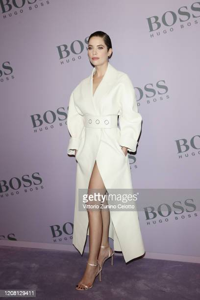 Ashley Benson attends the BOSS fashion show during the Milan Fashion Week Fall/Winter 2020 - 2021 on February 23, 2020 in Milan, Italy.