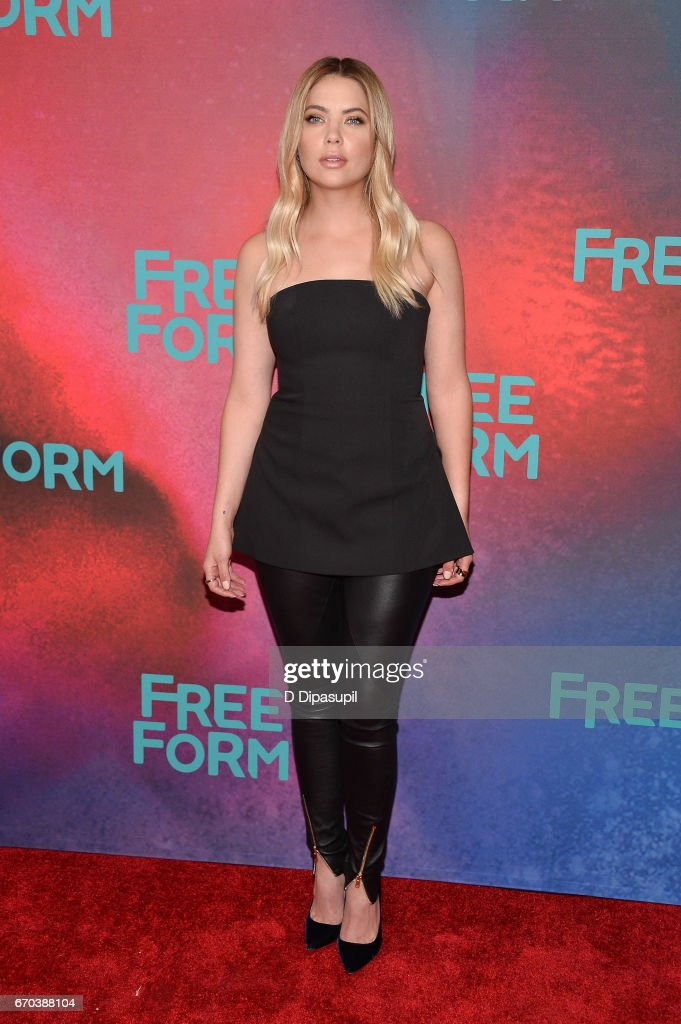 Ashley Benson attends the Freeform 2017 Upfront at Hudson Mercantile on April 19, 2017 in New York City.