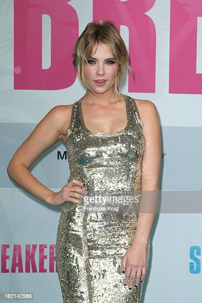 Ashley Benson attends the German premiere of 'Spring Breakers' at the cinestar Potsdamer Platz on February 19 2013 in Berlin Germany