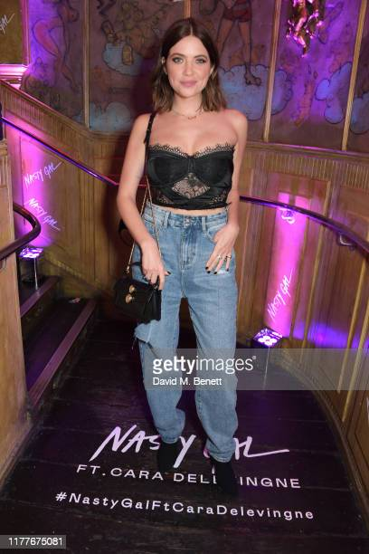 Ashley Benson attends the launch of Nasty Gal Ft Cara Delevingne a collection of holidayready pieces inspired by female rock icons of the ages as...