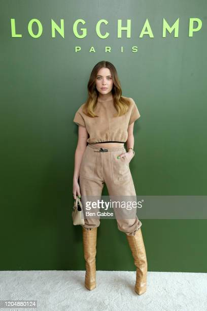 Ashley Benson attends the Longchamp Fall/Winter 2020 Runway Show at Hudson Commons on February 08, 2020 in New York City.