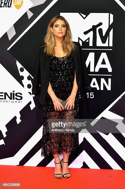 Ashley Benson attends the MTV EMA's 2015 at the Mediolanum Forum on October 25 2015 in Milan Italy