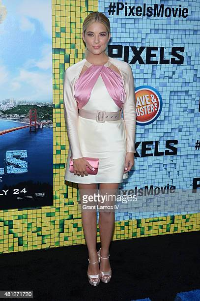 Ashley Benson attends the Pixels New York Premiere at Regal EWalk on July 18 2015 in New York City