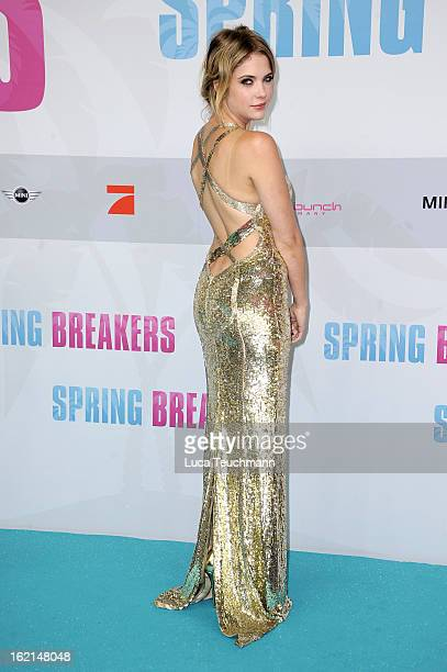 Ashley Benson attends the premiere of Spring Breakers at Sony Center on February 19 2013 in Berlin Germany