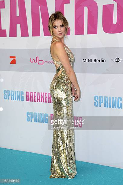 Ashley Benson attends the premiere of ''Spring Breakers' at Sony Center on February 19 2013 in Berlin Germany