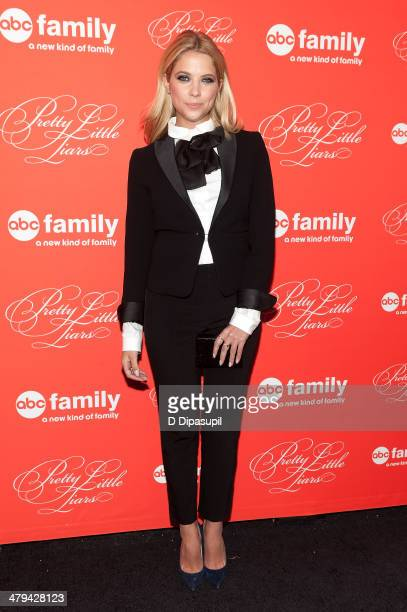 Ashley Benson attends the Pretty Little Liars season finale screening at Ziegfeld Theater on March 18 2014 in New York City