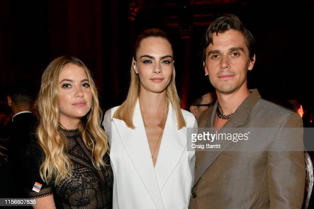 Ashley Benson, Cara Delevingne and Antoni Porowski attend TrevorLIVE NY 2019 at Cipriani Wall Street on June 17, 2019 in New York City.
