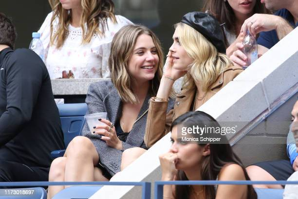 Ashley Benson, Cara Delevingne and Sara Sampaio attend as Grey Goose toasts to the 2019 US Open at Arthur Ashe Stadium on September 07, 2019 in New...