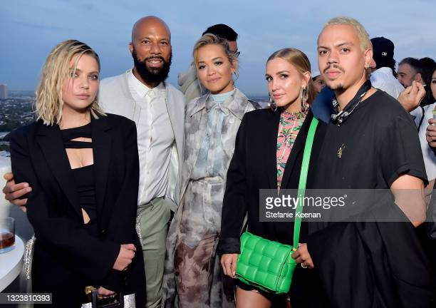 Ashley Benson, Common, Rita Ora, Ashlee Simpson Ross, and Evan Ross attend the Coin Cloud Cocktail Party, hosted by artist and actor Common, at...
