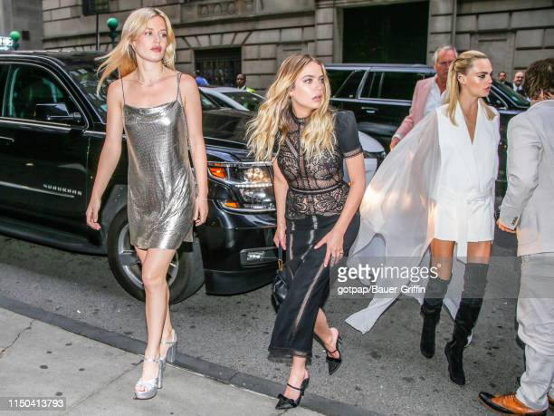 Ashley Benson, Georgia May Jagger and Cara Delevingne are seen on June 17, 2019 in New York City.
