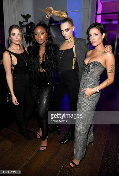 Ashley Benson, Normani, Cara Delevingne and Halsey attend the Amazon Original Savage x Fenty Show after party at Spring Place on September 10, 2019...