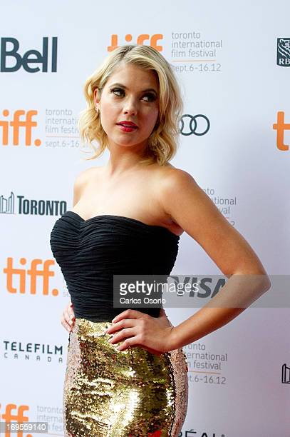 Ashley Benson on the red carpet at the Ryerson Auditorium for the screening of Spring Breakers during the Toronto International Film Festiva