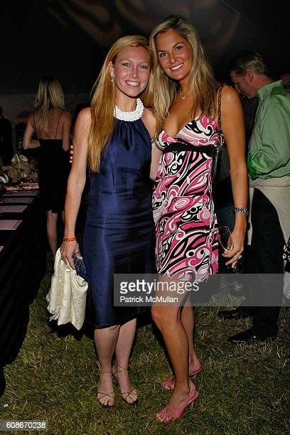 Ashley Bernon and Kristin Pisarcik attend LOVE HEALS The Alison Gertz Foundation for AIDS Education at Luna Farm Sagaponack on June 23 2007 in...