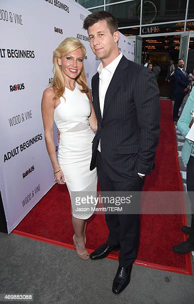 Ashley Bernon and producer Paul Bernon attend the premiere of Adult Beginners at ArcLight Hollywood on April 15 2015 in Hollywood California
