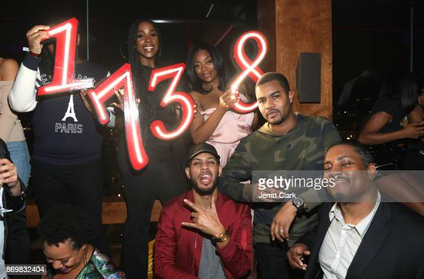 Ashley Blaine Featherson and Sarunas Jackson attend The MVP Experience after party hosted by The House of Remy Martin at The Highlight Room on...