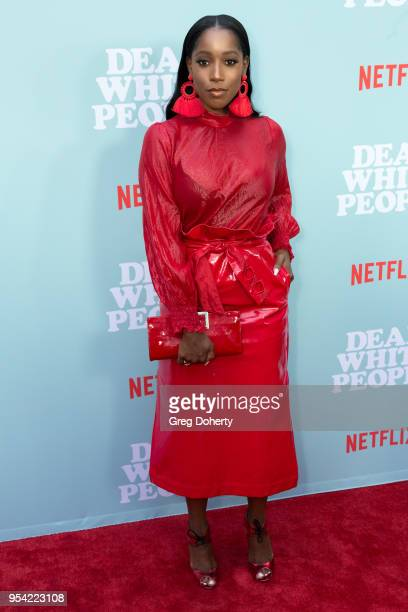 """Ashley Blaine Featherson attends the """"Dear White People"""" Season 2 Special Screening on May 2, 2018 in Hollywood, California."""