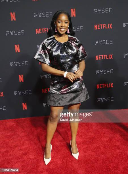 Ashley Blaine Featherson attends the Netflix FYSEE Kick-Off Event at Netflix FYSEE At Raleigh Studios on May 6, 2018 in Los Angeles, California.