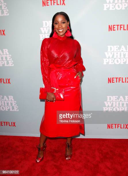 Ashley Blaine Featherson attends the screening of Netflix's 'Dear White People' season 2 at ArcLight Cinemas on May 2 2018 in Hollywood California