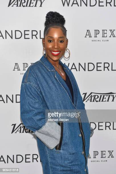 Ashley Blaine Featherson attends WanderLuxxe House presents Rising Stars Panel moderated by Ben Lyons on January 23 2018 in Park City Utah
