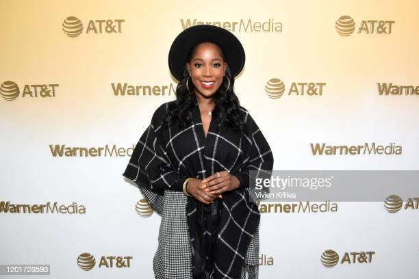 Ashley Blaine Featherson stops by WarnerMedia Lodge Elevating Storytelling with ATT during Sundance Film Festival 2020 on January 24 2020 in Park...