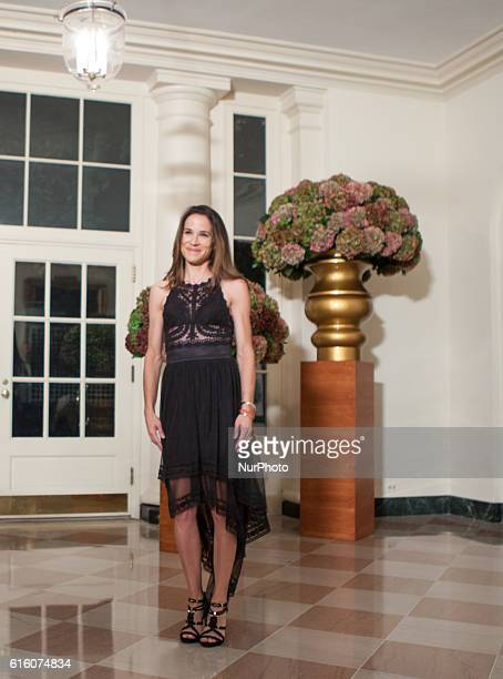 Ashley Blazer Biden daughter of US Vice President Joseph Biden arrives at the White House in Washington DC USA on 18 October 2016 for the Italy State...