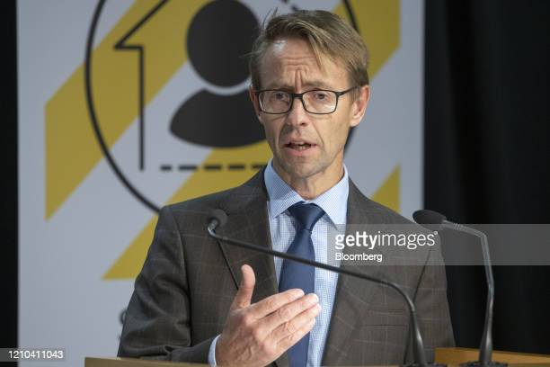 Ashley Bloomfield New Zealand's director general of health speaks during a news conference at the Parliament in Wellington New Zealand on Monday...