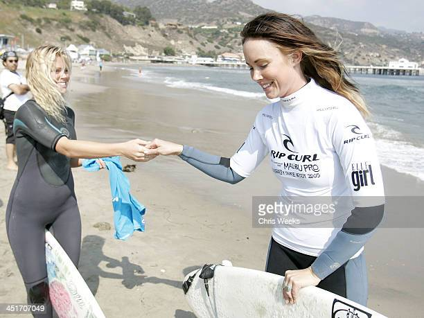 Ashley Bobb of the Rip Curl surf team and Amy Cobb