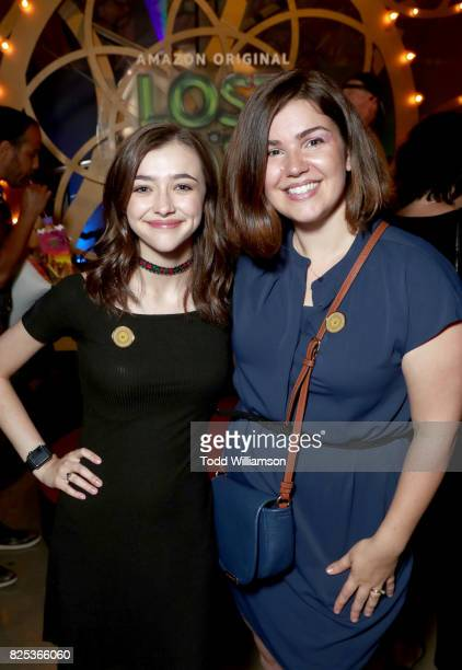 Ashley Boettcher and Amazon Kids Development Executive Monica Dennis attend Amazon Studios' premiere for Lost In Oz at NeueHouse Los Angeles on...