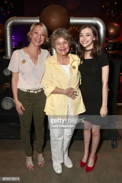 Ashley Boettcher with her mother and grandmother attends Amazon Studios' premiere for Lost In Oz at NeueHouse Los Angeles on August 1 2017 in...