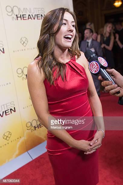 Ashley Bratcher attends '90 Minutes In Heaven' Atlanta premiere at Fox Theater on September 1 2015 in Atlanta Georgia