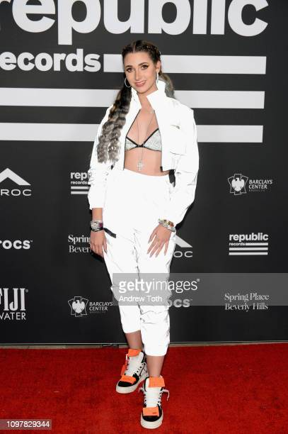 Ashley Brinton attends Republic Records Grammy after party at Spring Place Beverly Hills on February 10 2019 in Beverly Hills California