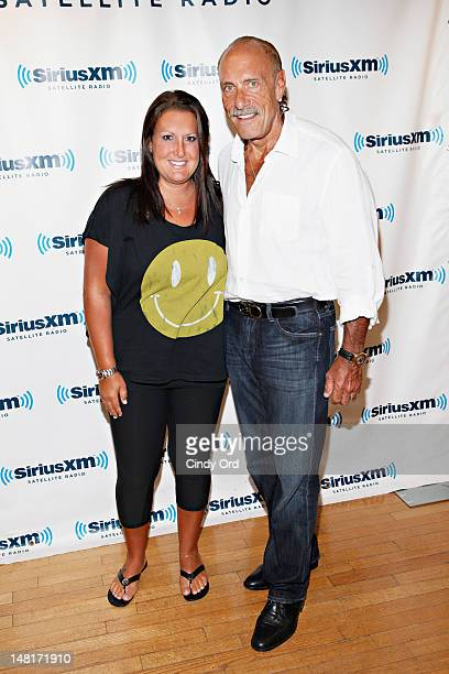 Ashley Broad and Les Gold of 'Hardcore Pawn' visit the SiriusXM Studio on July 11, 2012 in New York City.