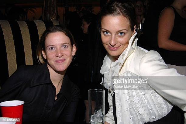 Ashley Brokow and Jessica Diehl attend Afterparty for The Keith Tyson Exhibition 'Geno Pheno' at PaceWildenstein Gallery at Bungalow 8 on October 14...