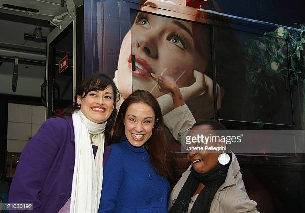 Ashley Brown Mary Poppins in Mary Poppins Sierra Boggess Ariel in The Little Mermaid and Tshidi Manye Rafiki in The Lion King attend the Debut of the...